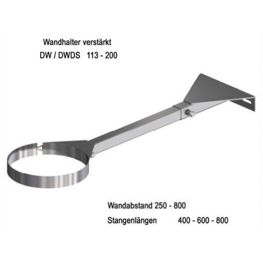 Beckmann Schornstein Wandhalter aus Edelstahl 250 - 400 mm